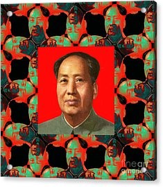 Mao Abstract Window 20130202p0 Acrylic Print by Wingsdomain Art and Photography