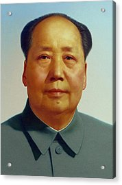 Mao Zedong  Acrylic Print by Unknown