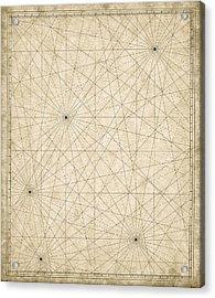 Map Grid Acrylic Print by Tyndyra