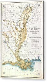 Map Mississippi River, 1861 Acrylic Print by Granger