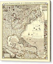 Map New World Acrylic Print by Gary Grayson