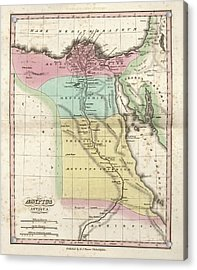Map Of Ancient Egypt Acrylic Print by Library Of Congress, Geography And Map Division