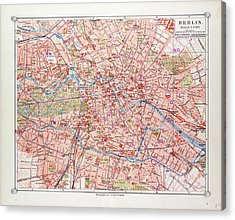 Map Of Berlin Germany 1899 Acrylic Print