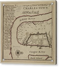 Map Of Charles-town Acrylic Print by British Library