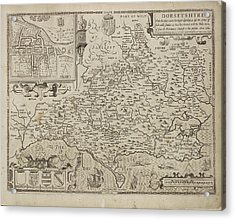Map Of Dorsetshyre Acrylic Print by British Library