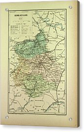 Map Of Eure-et-loire France Acrylic Print by French School