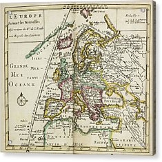 Map Of Europe Acrylic Print by British Library