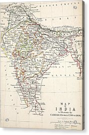 Map Of India Acrylic Print