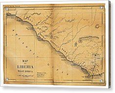 Map Of Liberia Acrylic Print by Library Of Congress, Geography And Map Division