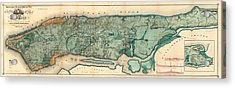 Map Of Manhattan Acrylic Print