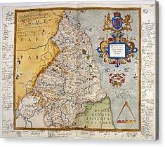 Map Of Northumberland Acrylic Print