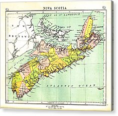 map of Nova Scotia - 1878 Acrylic Print