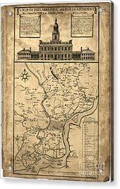 map of Philadelphia and parts adjacent - 1752 Acrylic Print by Pablo Romero