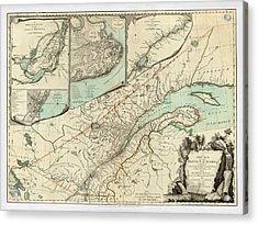 Map Of Quebec 1776 Acrylic Print