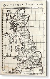 Map Of Roman Britain Acrylic Print by Middle Temple Library