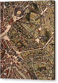 Map Of Rome Acrylic Print