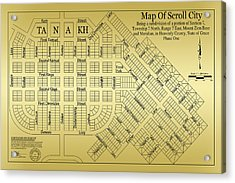 Map Of Scroll City Acrylic Print by James Eddy