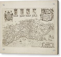 Map Of Sussex Corrected Acrylic Print by British Library