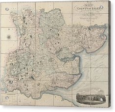 Map Of The County Of Essex Acrylic Print