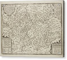 Map Of The County Of Leicestershire Acrylic Print by British Library