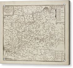 Map Of The County Of Surrey Acrylic Print by British Library