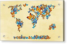 Map  Of The World  Acrylic Print