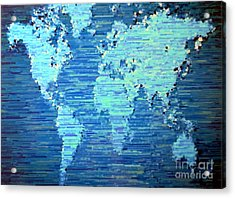 Map Of The World Acrylic Print by Susan Waitkuweit