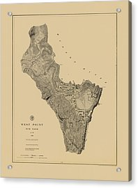 Map Of West Point 1883 Acrylic Print by Andrew Fare