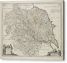 Map Of Yorkshire Acrylic Print by British Library