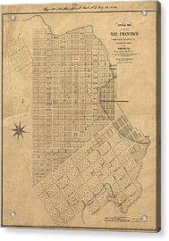 Map San Francisco, 1849 Acrylic Print by Granger