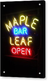 Maple Leaf Bar Acrylic Print