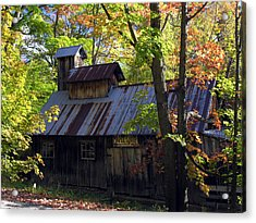 Maple Syrup Barn Acrylic Print by Robert Lozen