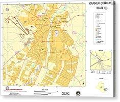 Maps Of Al Basrah And Kirkuk Iraq 2003 Acrylic Print by MotionAge Designs
