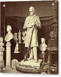 Maquette Of Union Soldier For Roxbury Soldiers Monument Acrylic Print
