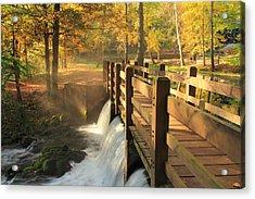 Maramec Bridge And Falls Acrylic Print