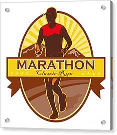 Marathon Classic Run Retro Acrylic Print by Aloysius Patrimonio
