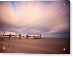 Marathon Key Long Exposure Acrylic Print by Adam Romanowicz