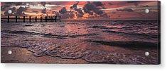 Marathon Key Sunrise Panoramic Acrylic Print by Adam Romanowicz