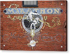 Marathon Motor Cars Sign Acrylic Print by Mike McGlothlen