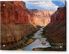 Marble Canyon - April Acrylic Print by Inge Johnsson