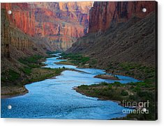 Marble Canyon Rafters Acrylic Print