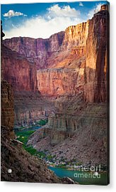 Marble Cliffs Acrylic Print by Inge Johnsson