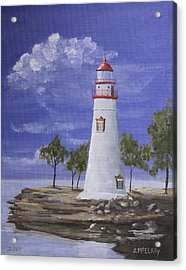 Marble Head Lighthouse Acrylic Print by Jerry McElroy