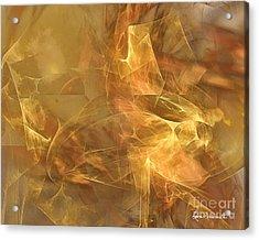 Marble Acrylic Print by Leona Arsenault