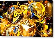 Marble Mania  Acrylic Print by Colleen Kammerer