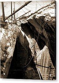 Marble Quarry Near Rutland, Marble Quarrying Acrylic Print