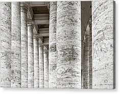 Marble Roman Columns Acrylic Print
