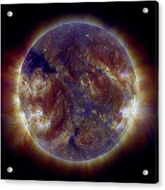 Marble Sun Acrylic Print by Sunny Day
