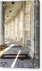 Acrylic Print featuring the photograph Marble Sunlight And Silence by Ross Henton