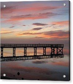 Marbled Pier Acrylic Print
